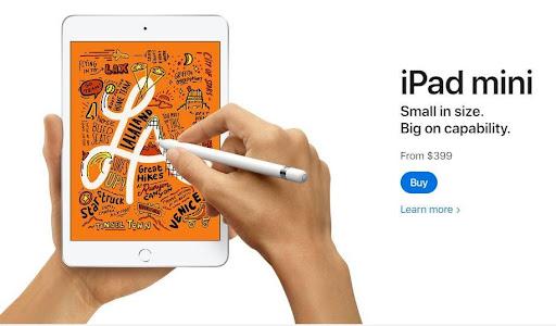 Brand Humor: iPad mini. Small in size. Big on capability.